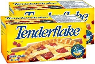 Canadian Tenderflake Pure Bakers Lard (2-Pack) - 1 Pound 454 Grams