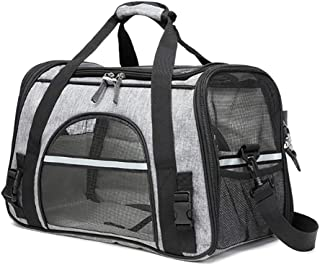 Pet Rucksack Pet Carriers Cat Bag Summer Out Portable Large Capacity Foldable Lightweight And Breathable Dogs One-should...