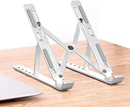 Portable Laptop Stand, ViPowermate Aluminum Adjustable Stand for iPad, MacBook Pro,Tablets and Laptops, Such as Lenovo ThinkPad, Dell Inspiron XPS-Sliver