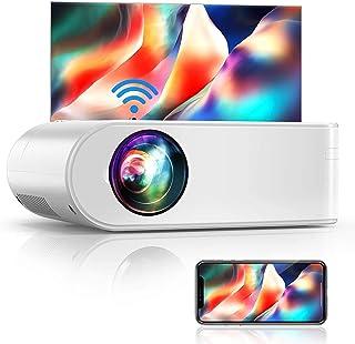 Proyector WiFi, YABER Mini Proyector Portátil 5800 Lúmenes 1080P Full HD[Pantalla de Proyector Incluida], Cine en Casa 200...