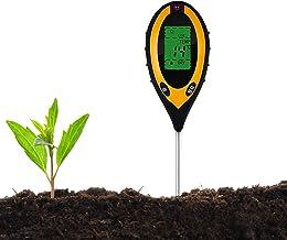 JIAOAOO Bodemtester, pH-tester voor de bodem, 4-in-1, hygrometer voor tuin en landbouw, zonder batterij, ter bevordering v...