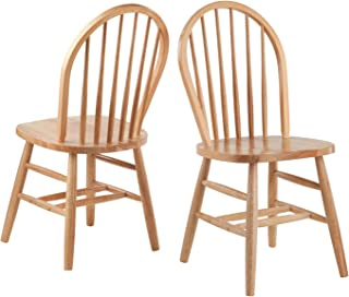 Winsome Wood 81836 Windsor 2Pc Set RTA Chair, Natural (Renewed)