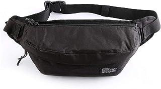 Outdoor Sports Nylon Fanny Pack Waist Bag for Men Women Travel Hiking Running Hip Bum Belt Slim Cell Phone Purse Wallet Chest Pouch Black