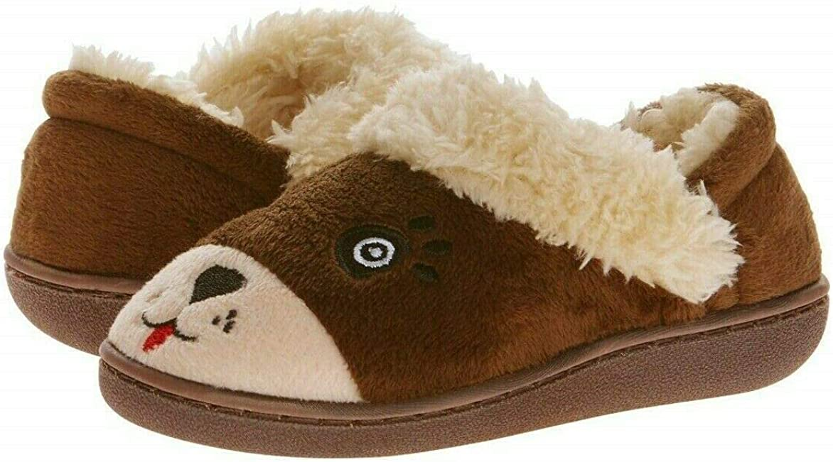 Indefinitely Kids Slippers Fuzzy Max 47% OFF Brown Bear Toddler - Girls Indoo Little Boys