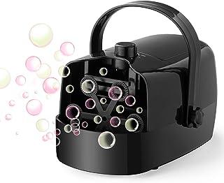 LDB Máquina de Burbujas,Máquina Automática Portátil de Burbujas para Niños Pompas de Jabón Fiesta Infantil Escenario Bodas al Aire Libre en Interiores Perfecto Regalo