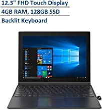 """2020 Lenovo Miix 630 12.3"""" FHD Thin & Light Touchscreen 2-in-1 Laptop Computer, Qualcomm Snapdragon 835 Processor, 4GB RAM, 128GB SSD, Backlit Keyboard, Dolby Atmos Audio, Win 10S, Gray"""