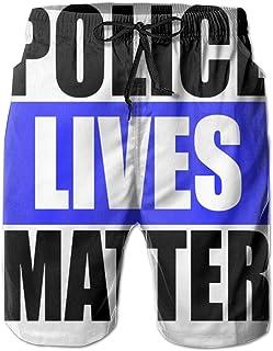 LLiopn Musky Lives Matter Mens Fashion High Waist Beach Shorts
