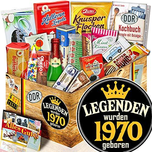 Legenden 1970 ++ DDR Paket mit Süßigkeiten ++ Geschenkbox zum Geburtstag