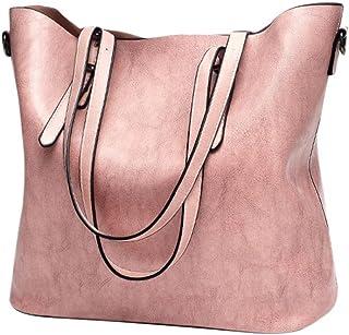 Women Retro Crossbody Bag Rakkiss Leather Shoulder Bag Handbag Bucket Large Capacity Bag Tote Backpack Bags