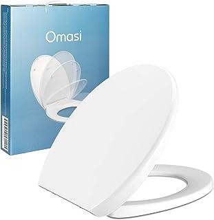 Abattant WC, Omasi Siège de Toilette avec Blocage Rapide, Dégagement Rapide à Un Bouton et Charnière Réglable, Abattant po...