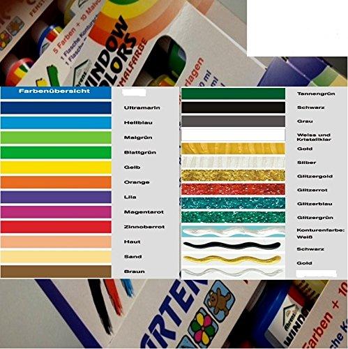 Window Color 8er Set aus 27 Farben frei wählbar 8x80ml (1L./ 28,10€)