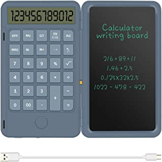 Sponsored Ad - Basic Calculator Notepad with 6.5 Inch LCD Writing Tablet, Rechargeable, Lock Button and E-Pen,12 Digit Dis...
