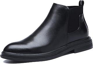 FUNPLUS Chelsea Boots pour Hommes Printemps Hiver Vintage Doublure Chaude Bottines Confortables Bottes Courtes antidérapan...