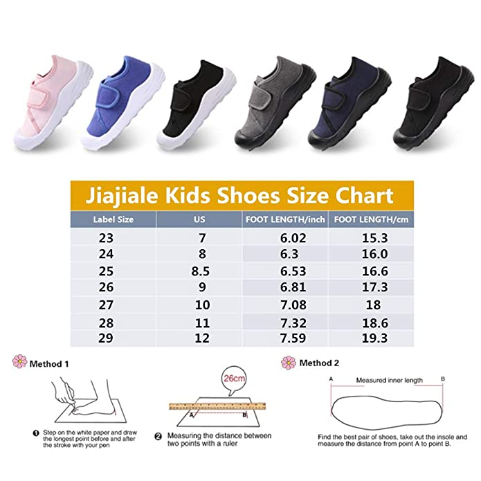 jiajiale Boys Girls Lightweight Toddler Sneakers Athletic Running//Walking Shoes Anti-Slip Sole with Arch Support