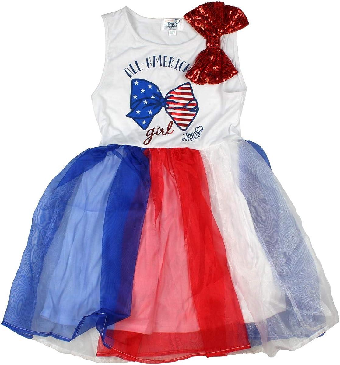 Seven Times Six JoJo Closet Girls' All America Bow Girl Sleeveless Tutu Dress