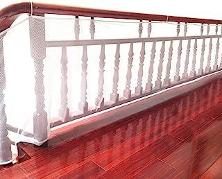 DECARETA Red de Seguridad Resistente para la Protección de Niños/Mascotas,Malla de Seguridad para Escaleras y Balcones 300 * 77cm, Blanco