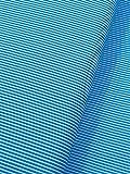Baumwollstoff Dekostoff Streifen türkis (0,5m)