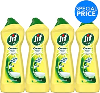 Jif Cream Cleaner Lemon, 500ml (Pack of 4)