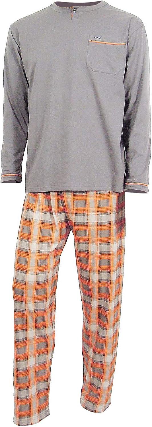 e.VIP/® Pijama para hombre Luke 326 de puro algod/ón.