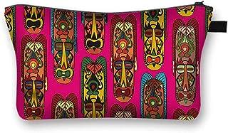 'Masks' Canvas Fabric Cosmetic Bag [Travel, School, Dorms]
