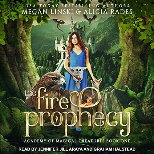 The Fire Prophecy Audiobook By Megan Linski, Alicia Rades cover art