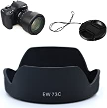 LXH EW-73C Lens Hood for Canon EF-S 10-18mm f/4.5-5.6 is STM Lens Replacement EW73C Secure Bayonet Lens Hood