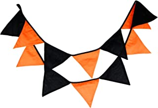 Lucky Shop1234 Halloween Banner, Multicolor Pennant Garlands 10.5 Feet 12 Flags Halloween Party Style Hanging Bunting Decoration (03)