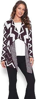 Tricot kimono longo zig zag