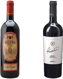 [ 2本 まとめ買い ワイン 飲み比べ ] 2017年 ヴァルサイア (ルイジ リゲッティ) 750ml と ロッソ トスカーナ (テヌーテ ロセッティ) 750ml ワインセット