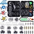 PLUSINNO Fishing Accessories Kit, 263/156 Pcs Fishing Tackle Kit with Tackle Box Including Fishing Weights Sinkers, Jig Hooks, Beads, Swivel Snap, Bobbers Float, Saltwater Freshwater Fishing Gear