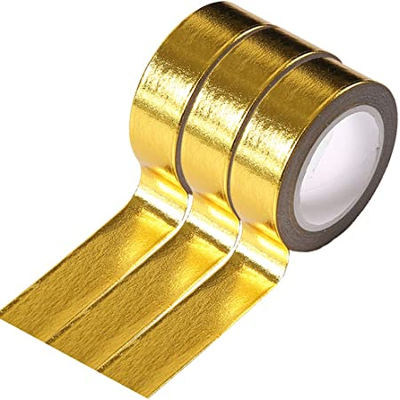 Gold Foil QC900 Washi Tape 15mm x 10m