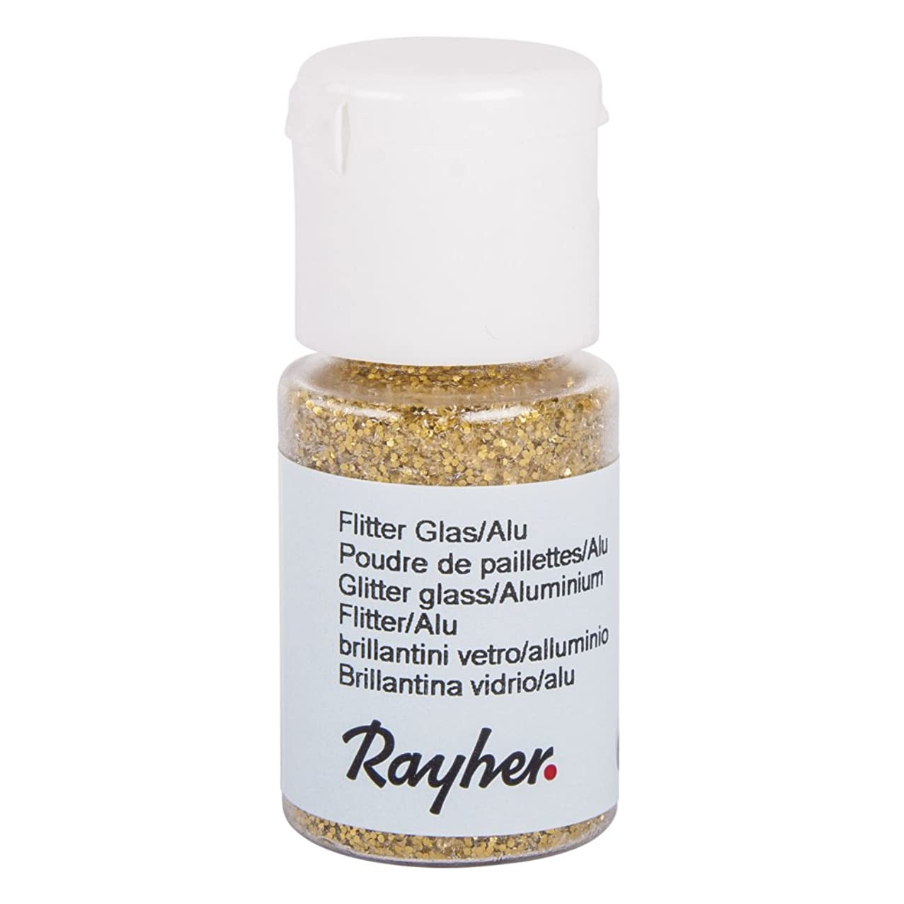 RAYHER 3925106?Glitter Glass/Aluminium Small Fl? ¤ Schchen 10?ml, Gold