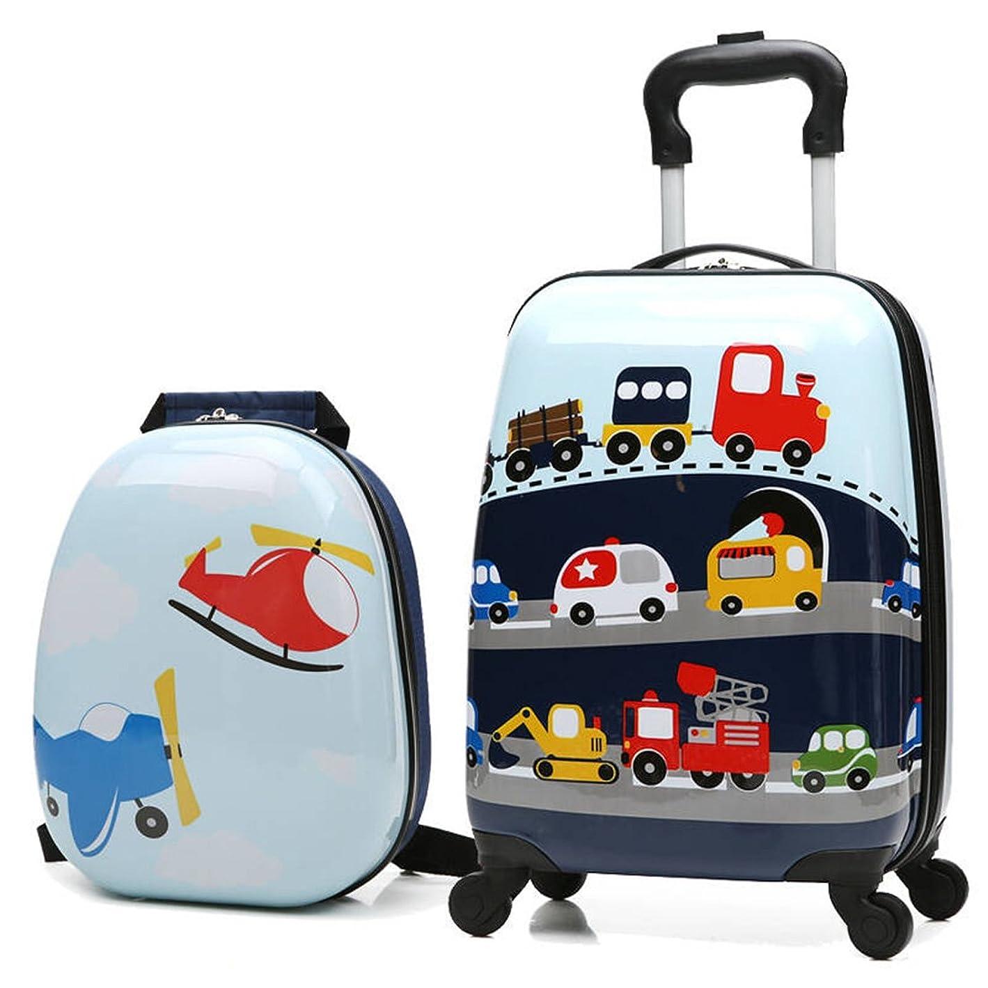 輪郭実行可能遠足子供の荷物18インチハードシェルスピナーホイールは旅行のためのスーツケースを続けています