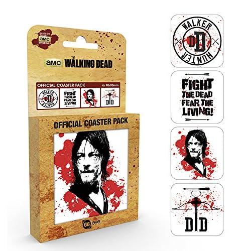 GB Eye, The Walking Dead, Daryl, Set di Sottobicchieri