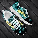 Color puro Tradicional Polinesia Ciruela Patrón Moda Mujer Ocio Senderismo Deportes Zapatos Señoras Zapatillas Pisos HTDA379AQ 44