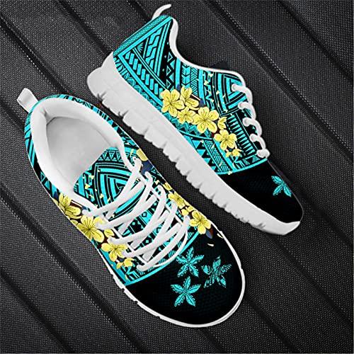 Color puro Tradicional Polinesia Ciruela Patrón Moda Mujer Ocio Senderismo Deportes Zapatos Señoras Zapatillas Pisos HTDA379AQ 38