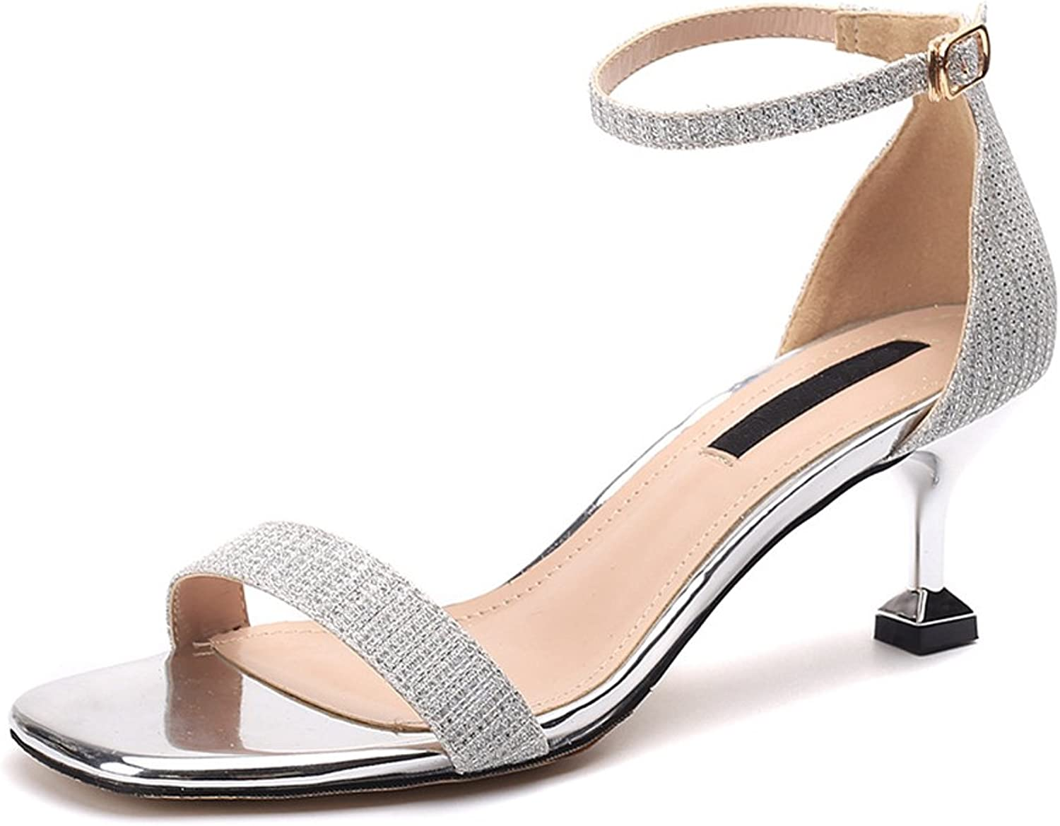 Dreneco Ruiren Women's Sandals Ankle High Heels Open Toe shoes for Ladies