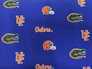 Florida Gators Fabric by the Yard - Script, Head, UF, Helmet - Blue