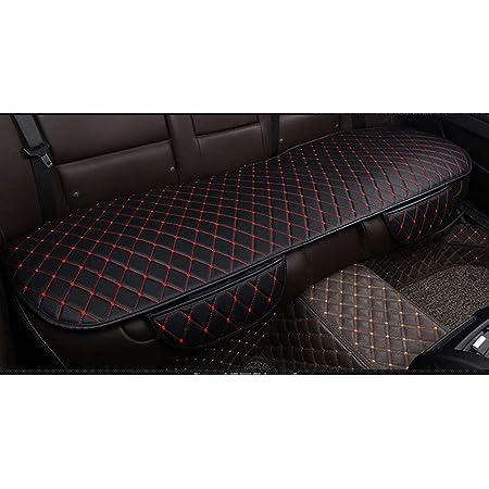 Leaftree Universal Auto Sitzauflage High Grade Samt Sitzbezüge Anti Rutsch Auto Sitzkissen Atmungsaktive Sitzmatte Schwarz Auto