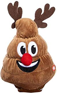 Animated Dancing or Singing Plush Christmas Toy, Tooting Santa, Llama, Unicorn, Poop (Red Nosed Reindeer Poop Farting to Jingle Bells)