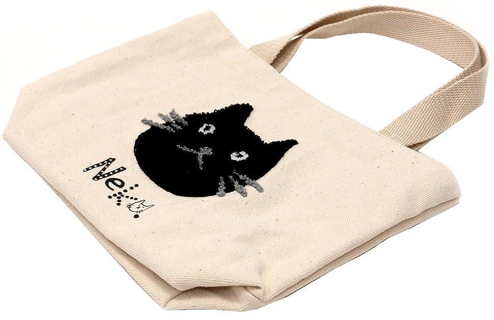 参加者証人アート[パケ?カドー] トートバッグ ネコ サガラ刺繍ミニトート