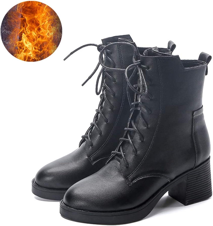 ZSXWIN New Zipper Platform Women's shoes Motorcycle High Heel Martin Boots