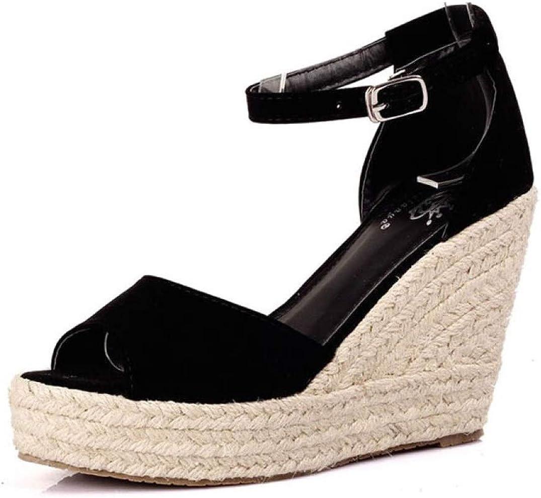 Women's Peep Toe Espadrille Platform Wedges mart A Sandals Suede 5 ☆ popular Faux