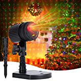 Christmas Lights Laser Projector: Minetom Decorative Light Starry LED Light Projection 3 Working Modes Waterproof Plug in Mountable for Indoor Outdoor House Halloween Holiday Party, Red & Green