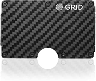 Grid Wallet - Credit Card Holder with RFID Protection - Holds 12 Cards