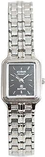 ساعة يد نسائية من اكيورت، مستطيله، فضي، ALQ761S