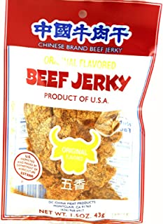 China Meat Beef Jerky (Original Flavor) - 1.5oz - 43g (Pack of 6)