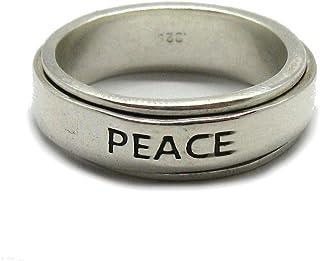 Anello rotante in argento solido 925 Peace R001848 Empressjewellery