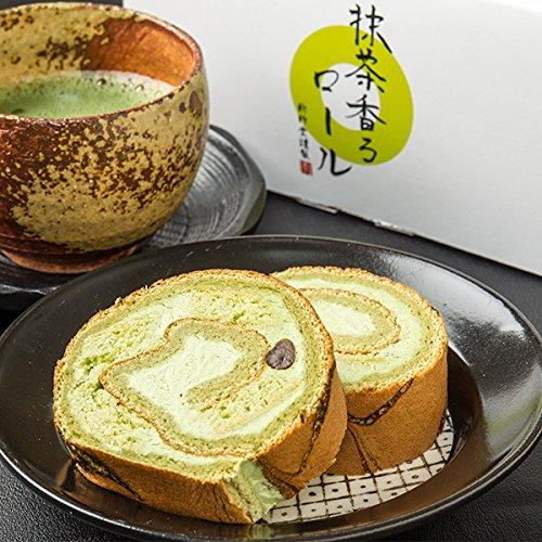 新杵堂 抹茶香るロール ロールケーキ 小豆 宇治 抹茶 お土産 ギフト 京都 木谷製茶場