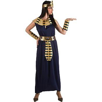 Disfraz de Faraona azul para mujer: Amazon.es: Juguetes y juegos